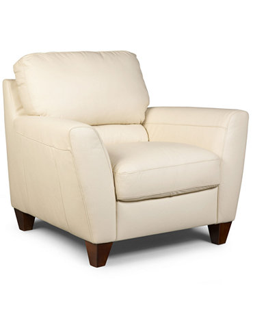 Almafi Leather Living Room Chair Furniture Macy 39 S