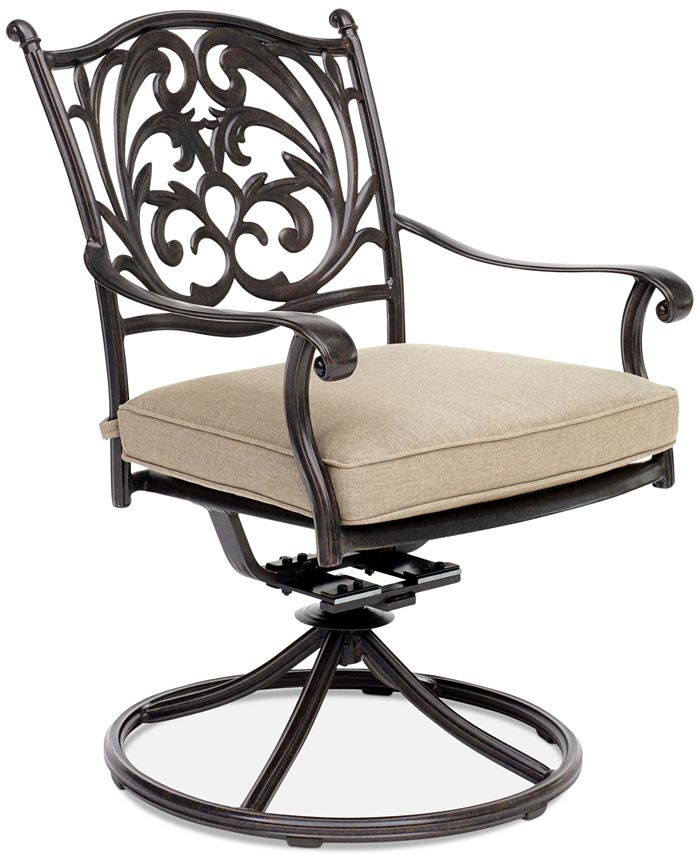 Furniture - Chateau Aluminum Outdoor Swivel Rocker with Sunbrella® Cushion
