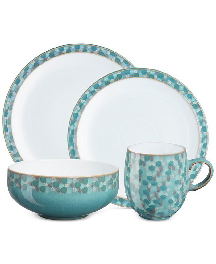Denby - Azure Shell Collection 4-Piece Place Setting Boxed Set