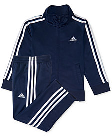 adidas Baby Boys 2-Pc. Three-Stripe Track Suit