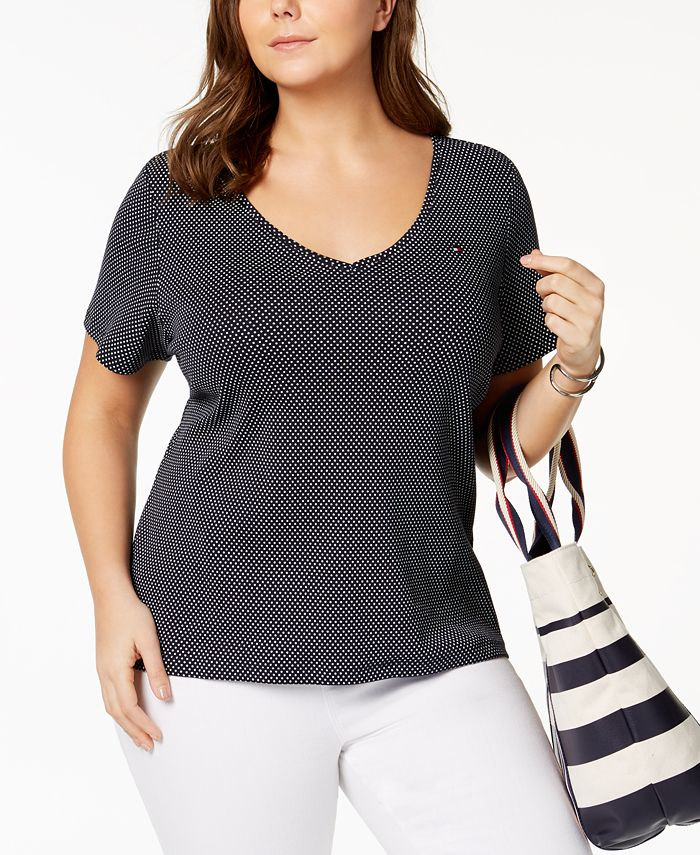Tommy Hilfiger - Plus Size Cotton V-Neck T-Shirt