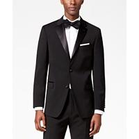 Tommy Hilfiger Mens Modern-Fit Flex Stretch Black Tuxedo Jacket