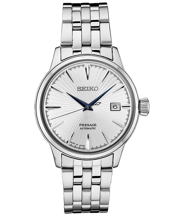Seiko - Men's Automatic Presage Stainless Steel Bracelet Watch 40.5mm