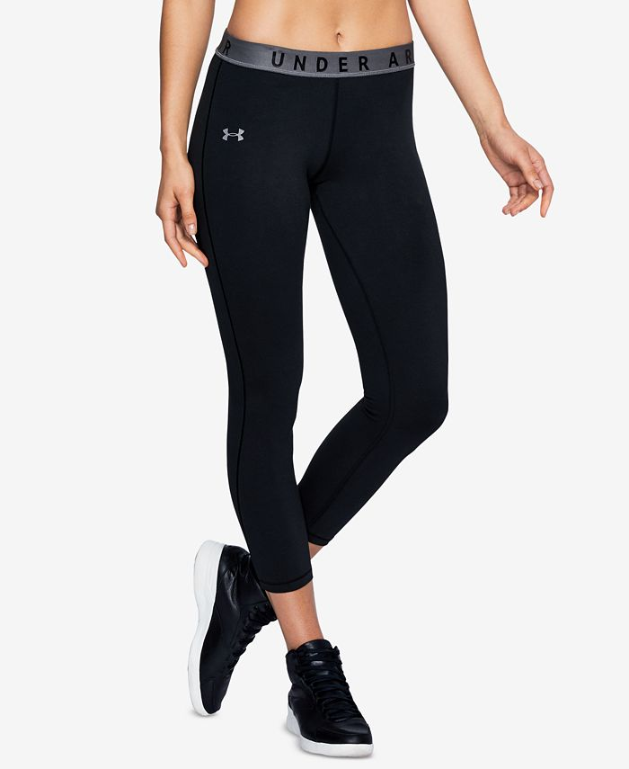 Under Armour Women S Favorites French Terry Cropped Leggings Reviews Pants Leggings Women Macy S