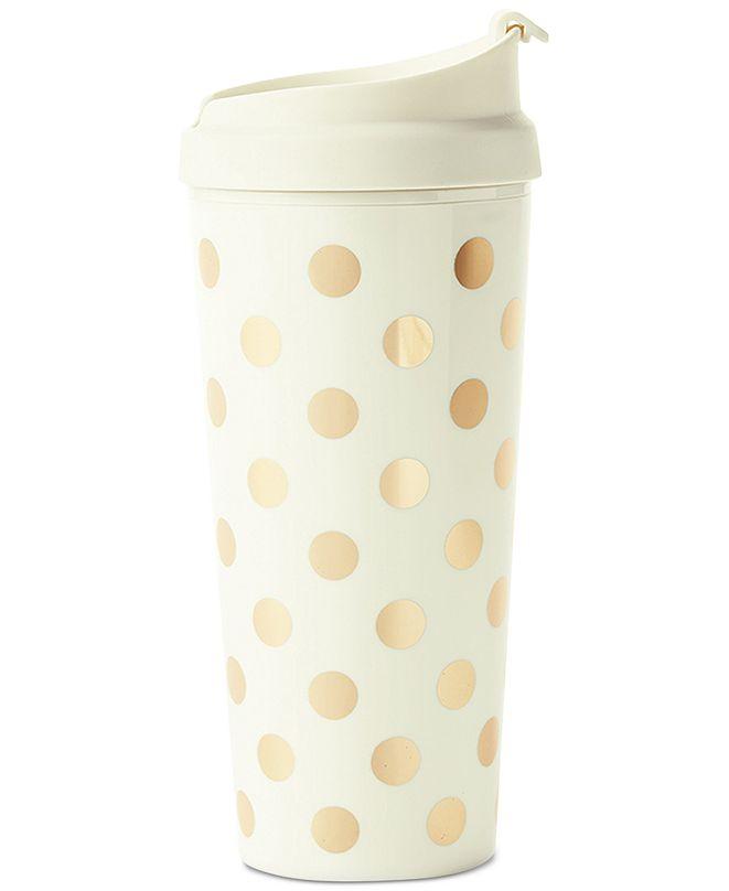 Kate Spade New York Thermal Mug, Gold Dot