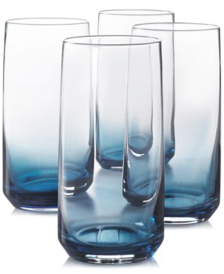 Blue Ombre Set of 4 Highball Glasses, Created for Macy's