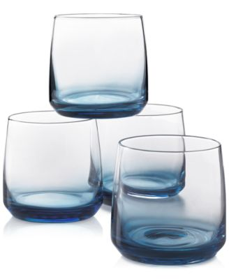 Blue Ombre Set of 4 Rocks Glasses, Created for Macy's