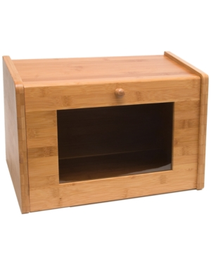 Lipper International Bread Box, Bamboo with Glass Window