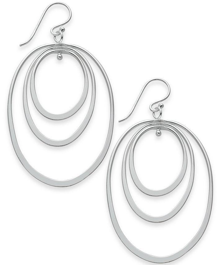 Essentials - Triple Oval Hoop Drop Earrings