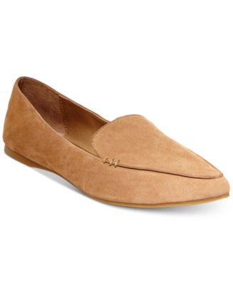steve madden feather loafer white