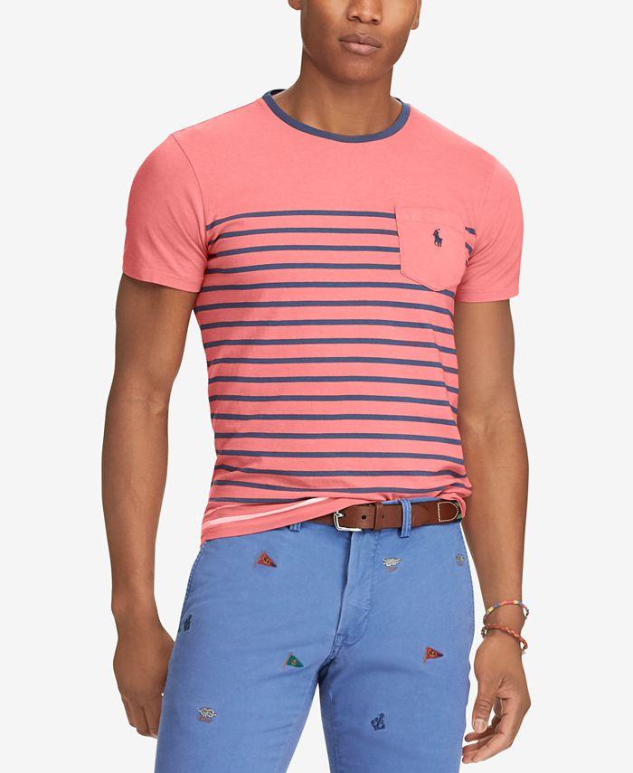 Polo Ralph Lauren - Men's Big & Tall Classic Fit Striped T-Shirt