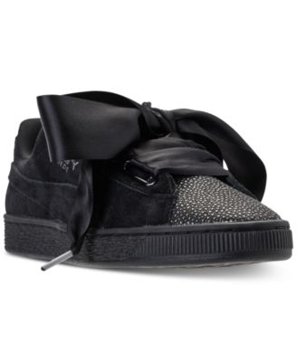 Suede Heart Bubble Casual Sneakers