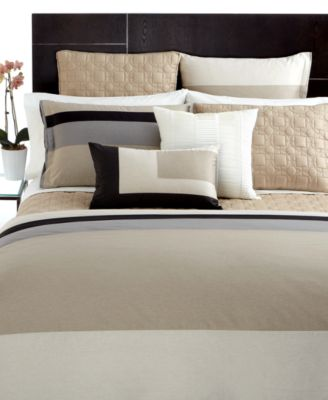 CLOSEOUT! Hotel Collection Bedding, Pair of Panel Stripe European Shams
