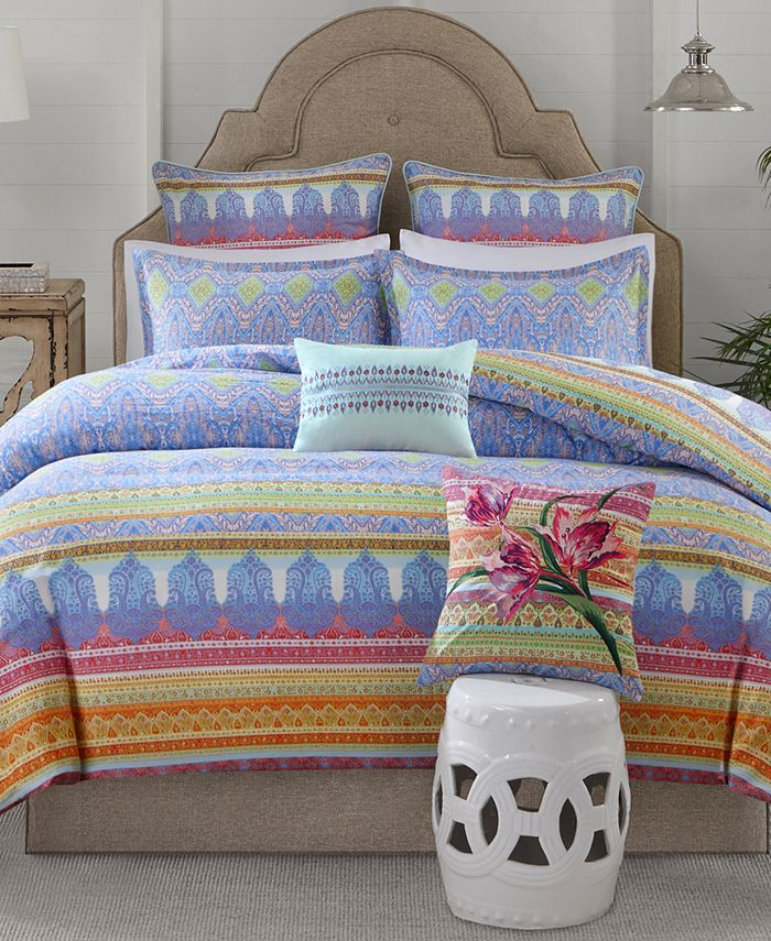 Echo - Sofia Cotton 3-Pc. Full/Queen Duvet Cover Set
