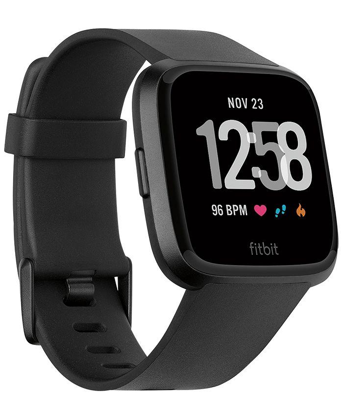Fitbit - Versa™ Black Band Touchscreen Smart Watch 39mm