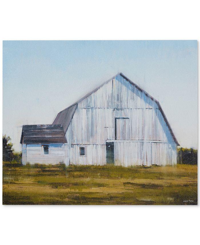 JLA Home - Old White Barn Gel-Coated Canvas Print