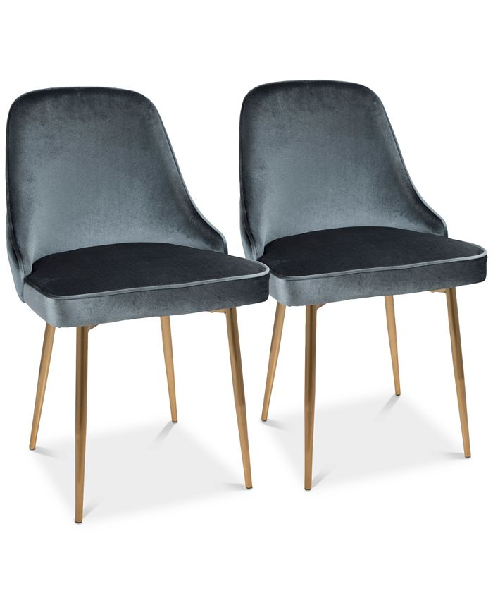 Lumisource - Marcel Dining Chair (Set of 2) - Gold Finish, Quick Ship