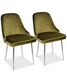 Marcel Dining Chair (Set of 2) - Chrome Finish