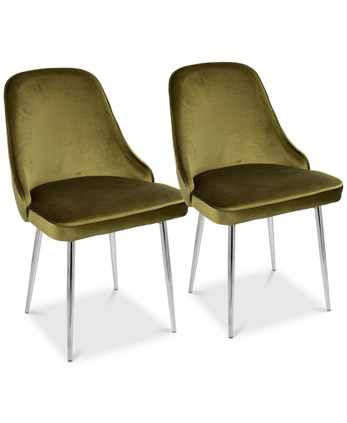 Lumisource - Marcel Dining Chair (Set of 2) - Chrome Finish, Quick Ship