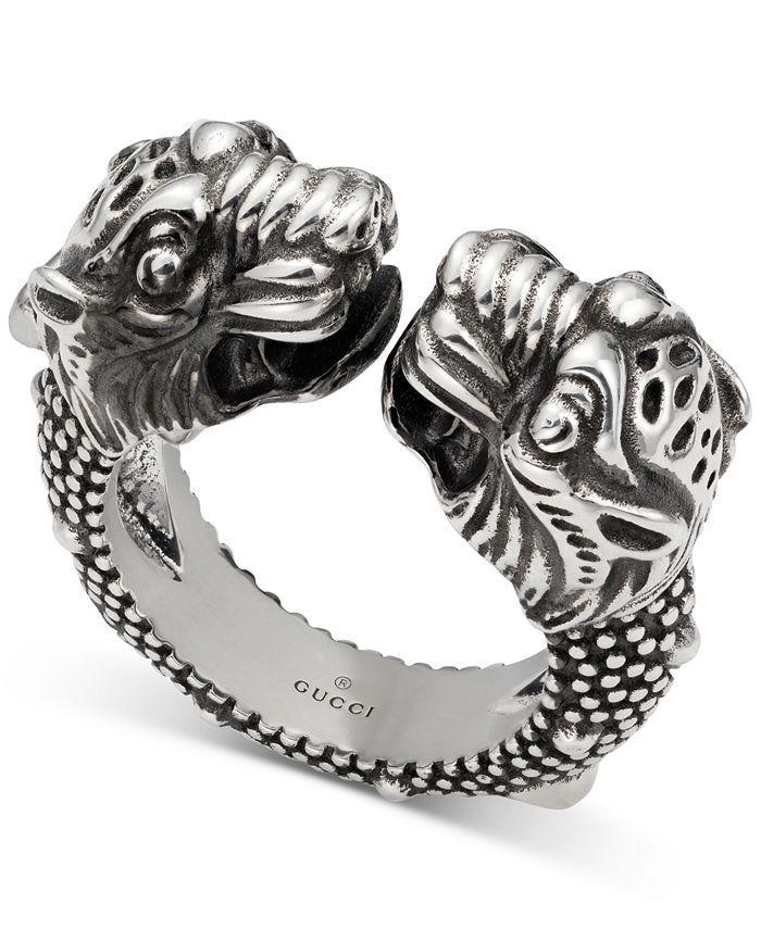 Gucci - Men's Tiger Head Cuff Ring in Sterling Silver