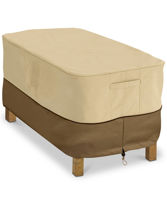 Classic Accessories - Rectangular Patio Coffee Table Cover, Quick Ship