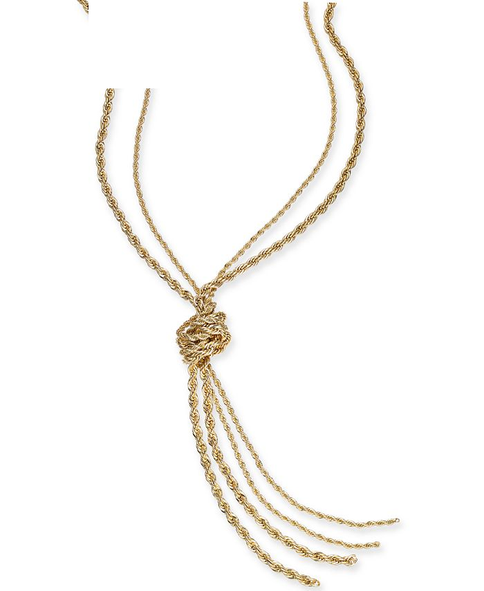 """Charter Club - Double Rope Knotted Lariat Necklace, 32"""" + 2"""" extender"""