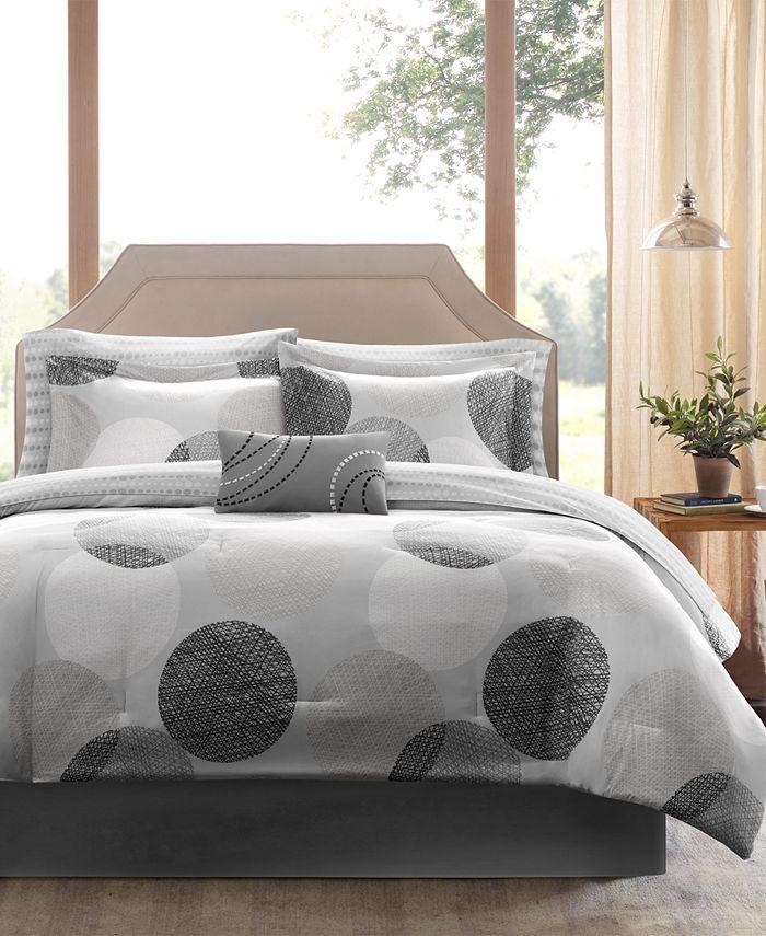 Madison Park - Essentials Knowles 9-Pc. California King Comforter Set