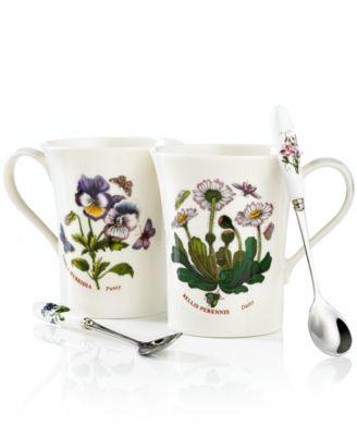 Portmeirion Dinnerware, Set of 2 Botanic Garden Mugs with Spoons