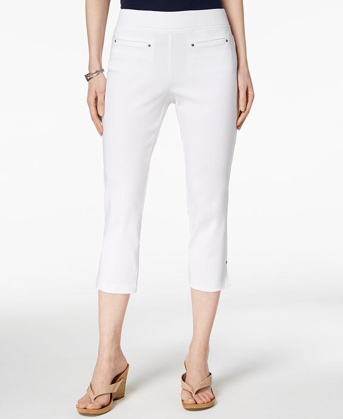 Style Co Pull On Capri Pants Created For Macy S Reviews Pants Leggings Women Macy S