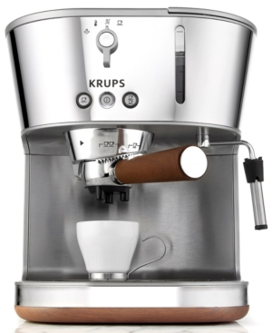 Krups XP4600 Espresso Machine, Silver Art