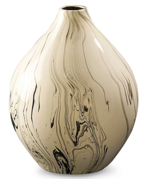 Howard Elliott Vase, Small Drizzled Glaze Ceramic