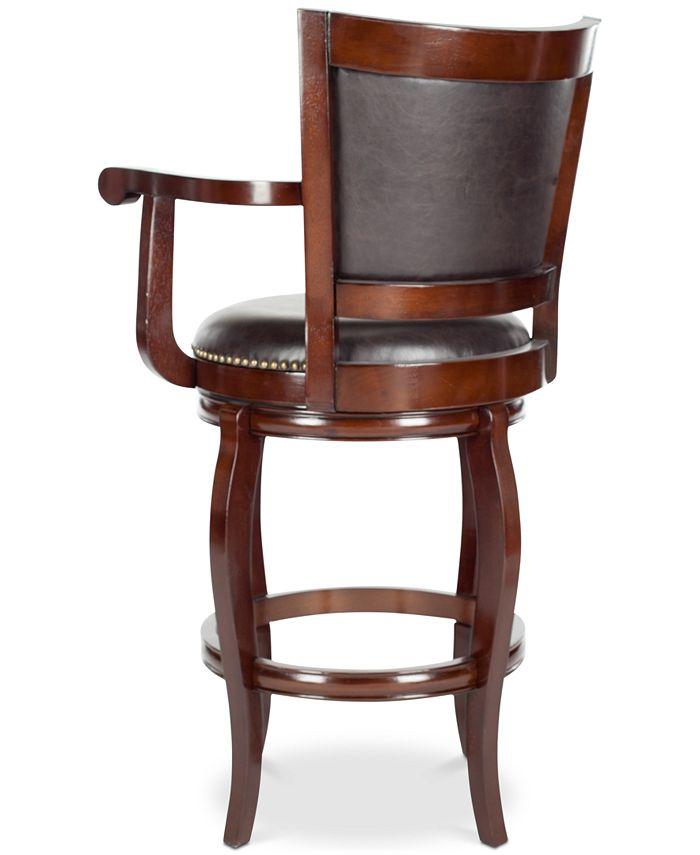 Safavieh Morel Swivel Bar Stool & Reviews   Furniture   Macy's