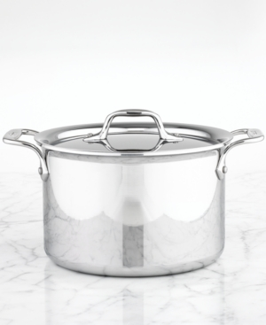 All-Clad Stainless Steel Covered Soup Pot, 4.5 Qt.