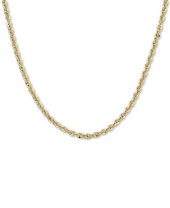 """Macy's Italian Gold Rope 18"""" Chain Necklace (3-3/4mm) in 14k Gold, Made in Italy"""