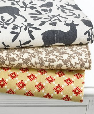 Martha Stewart Collection Bedding, Coordinating Flannel Sheet Sets