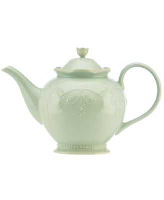 Lenox Dinnerware, French Perle Ice Blue Teapot