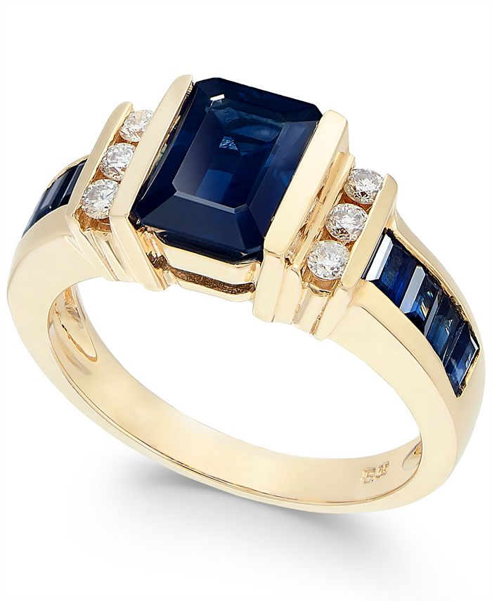 EFFY Collection - Sapphire (2-1/4 ct. t.w.) and Diamond (1/6 ct. t.w.) Ring in 14k Gold