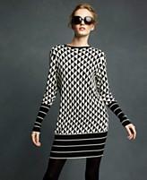 Karl Lagerfeld for Impulse Dress, Long Sleeve Triangle Pattern Sweater
