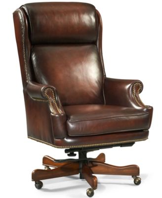 Harrison Leather Home Office Chair Swivel Furniture