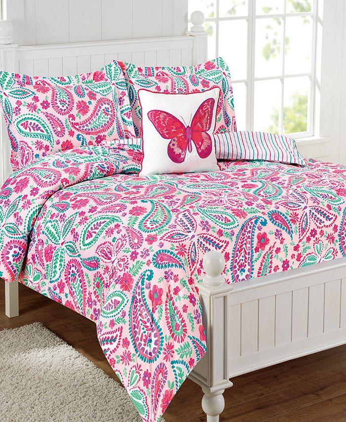 Mytex - Watercolor Flutter 4-Pc. Full Comforter Set