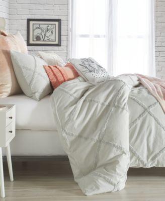 Chenille Lattice 2-Pc. Twin Comforter Set