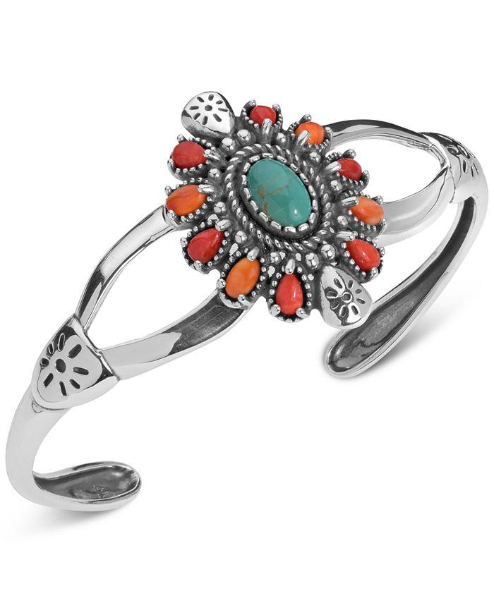 American West - Multi-Stone Cuff Bracelet (3-1/2 ct. t.w.) in Sterling Silver