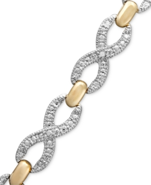 Victoria Townsend 18k Gold Over Sterling Silver Bracelet, Diamond Accent X Bracelet