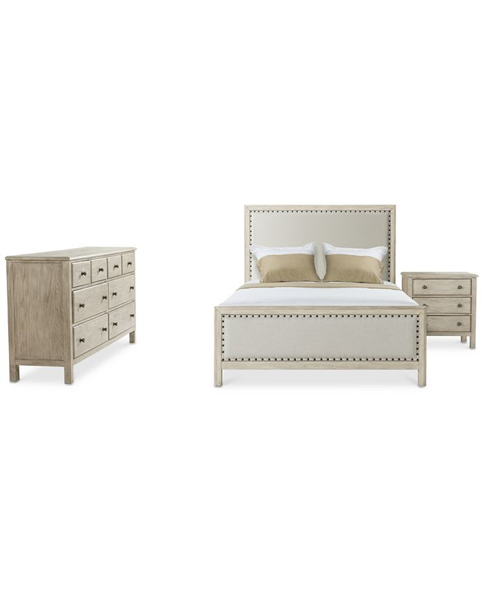 Furniture - Parker Upholstered Bedroom , 3-Pc. Set (Full Bed, Dresser & Nightstand), Created for Macy's