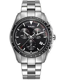 Rado Men's Swiss Chronograph HyperChrome Stainless Steel Bracelet Watch 44.9mm