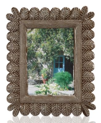 "Heart of Haiti Picture Frame, Feather 5"" x 7"""