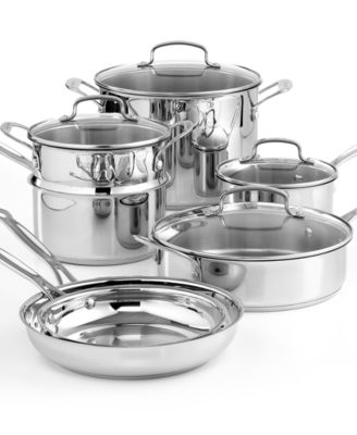 Cuisinart Chef's Classic Stainless Steel Cookware, 11 Piece Set