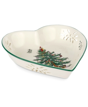 Spode Serveware, Christmas Tree Pierced Heart Bowl