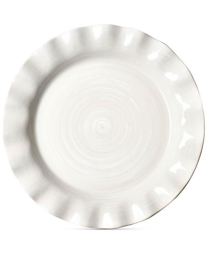 Coton Colors - Signature Ruffle White Dinner Plate
