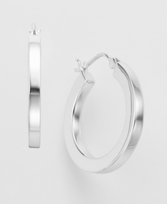 Sterling Silver Hoop Earrings - Sterling Hoops